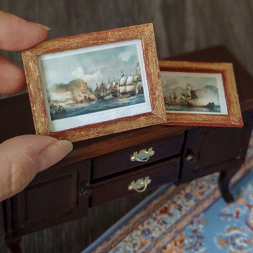 Set of naval battle 1/12 miniature