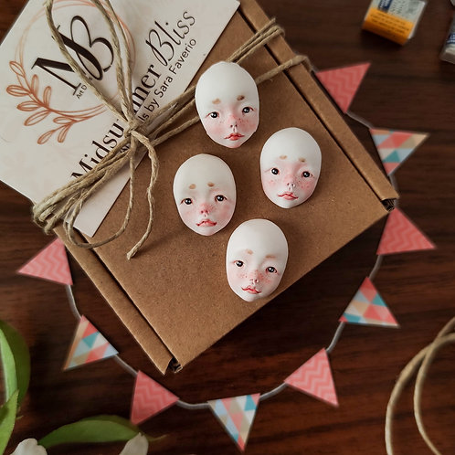 Cutie child faces for doll making