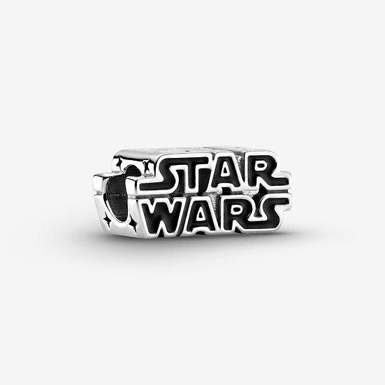 Star Wars, Charm in Argento con logo in 3D