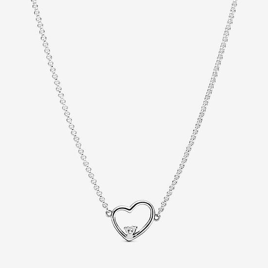 Collana cuore asimmetrico