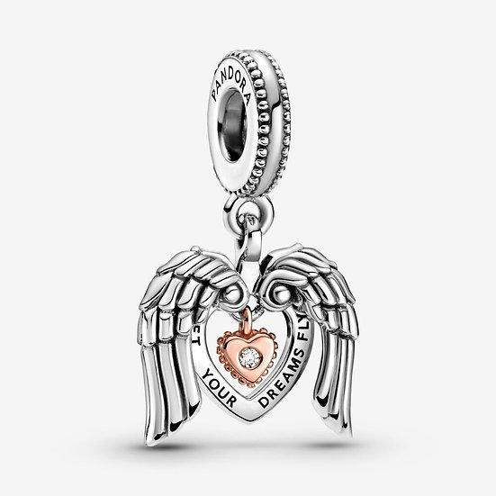 Charm pendente Cuore e ali d'angelo Pandora Club 2021