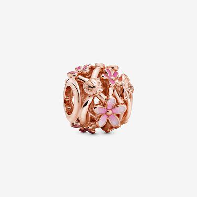 Charm Margherita rosa openwork