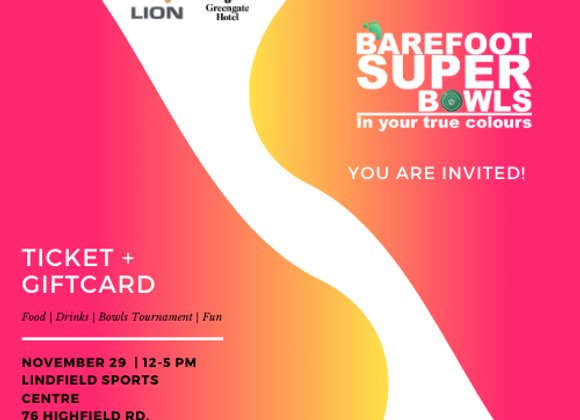 Barefoot Super Bowl - Ticket + Gift Card