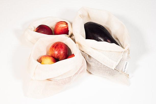 Des produits de saison dans des sacs à vrac 100% coton certifié contact alimentaire