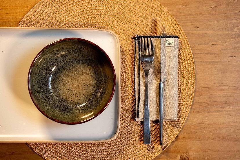 Serviette de table en lin lavé fabriqué en France france