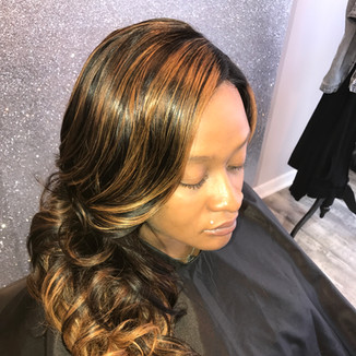 Lace Closure Install With Curls To Finish