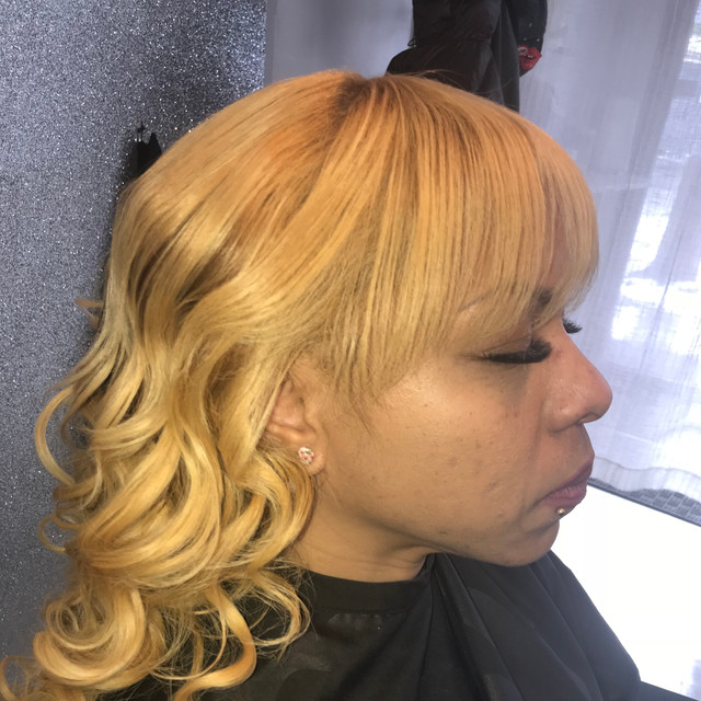 Braidless Install  WIth Loose Wand Curls To Finish