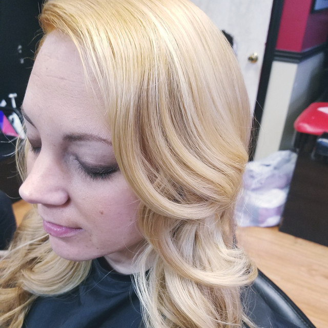 Color Retouch With Curls To FInish