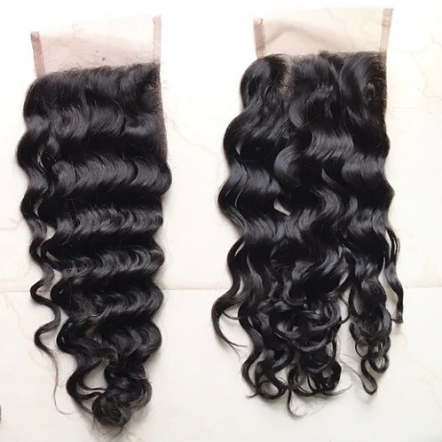 LACE CLOSURES   4'' x 4'' ALL TEXTURES