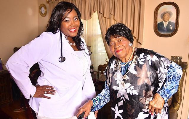 Nurse and Homecare Patient