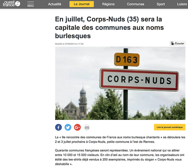 Article internet Corps Nuds