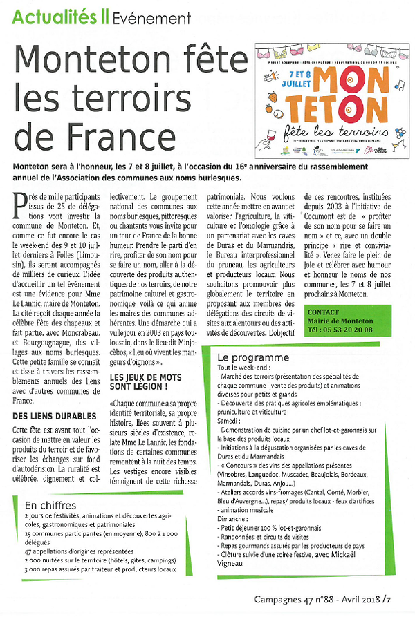 Article de Monteton