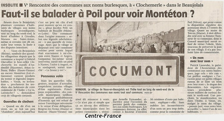Article Cocumont