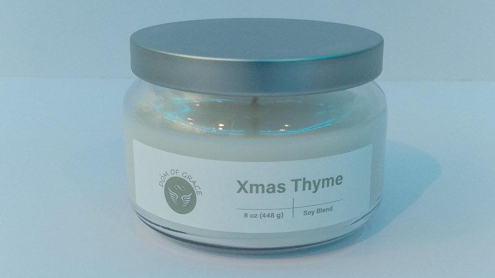 8 oz. Round Jar - Christmas Thyme