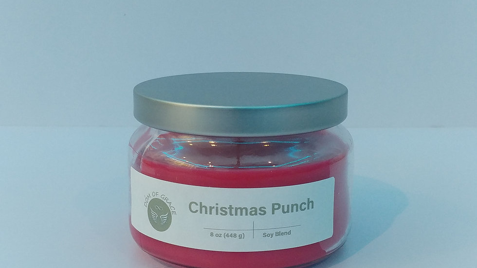8 oz. Round Jar - Christmas Punch