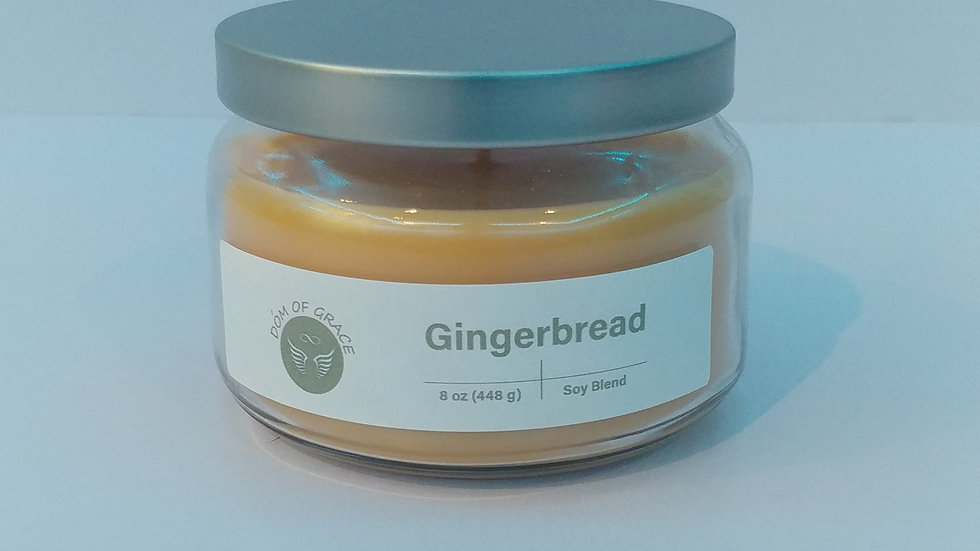 8 oz. Round Jar - Gingerbread