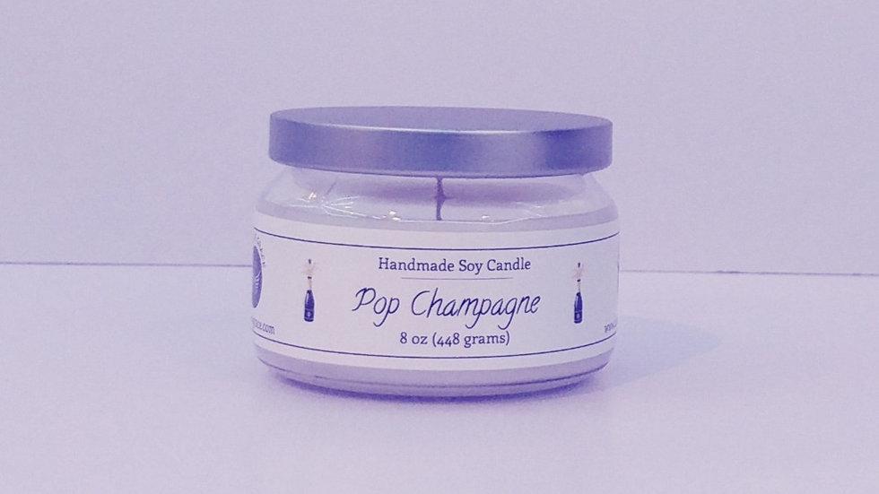 8 oz Round Jar - Pop Champagne