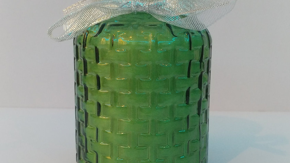 Green or Clear Jar w/ Ribbon