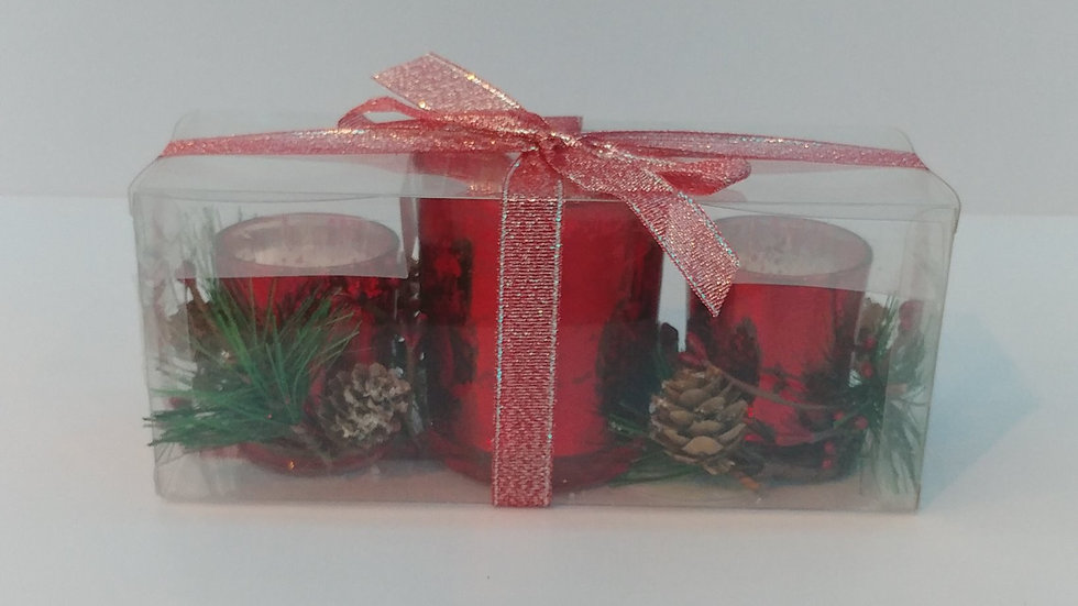 3-Piece Gift Set w/Red Ribbon