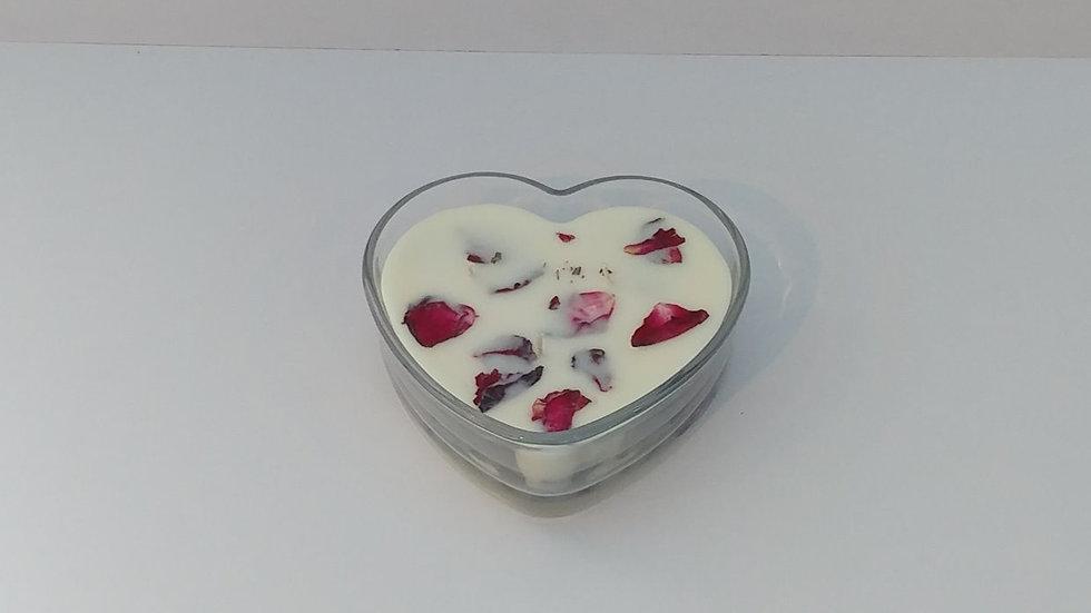 Heart Shaped Glass Jar