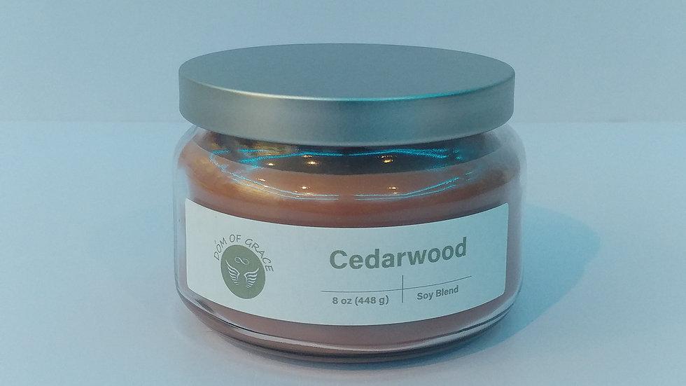 8 oz. Round Jar - Cedarwood