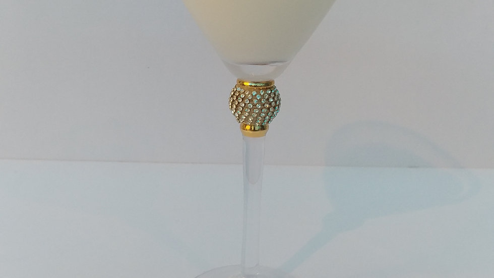 Large Martini Glass w/ Bling