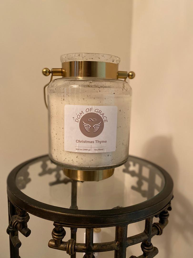 Christmas Thyme Lantern Candle