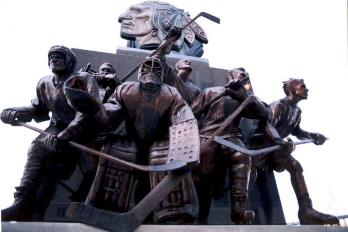 Blackhawks 75th Anniversary Monument