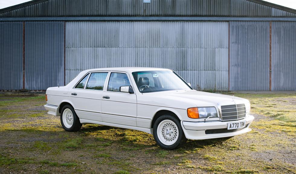 W126 Cream 500SEL for sale uk.jpg