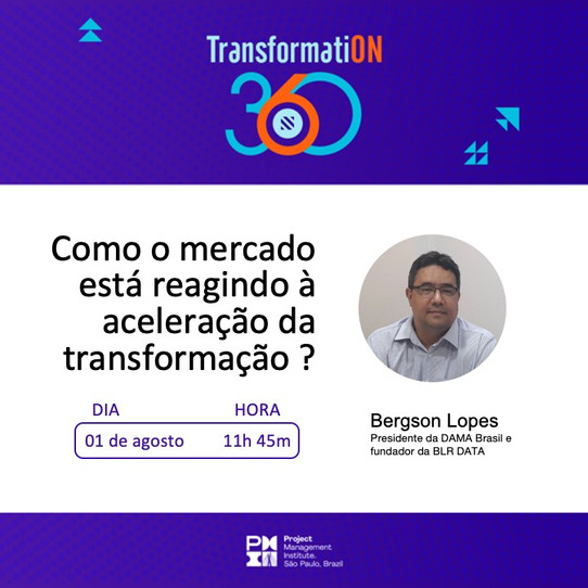 Fundador da BLR DATA participará de painel sobre Transformação Digital em evento promovido pelo PMI-