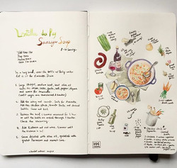 First #recipesketchbook we had this #frenchlentilsoup at friends place and my baby girl finished who