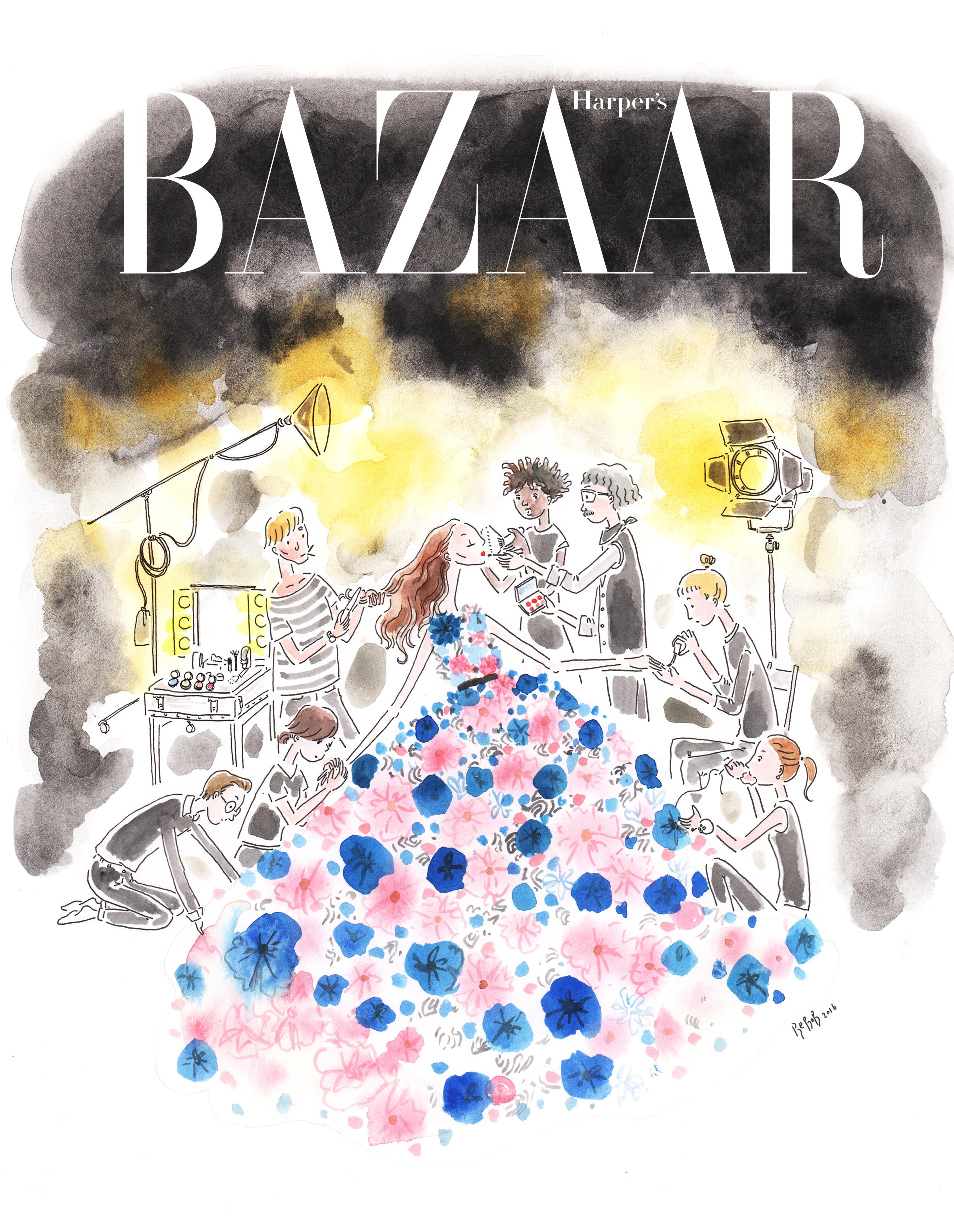 Harper's Bazaar KR cover art