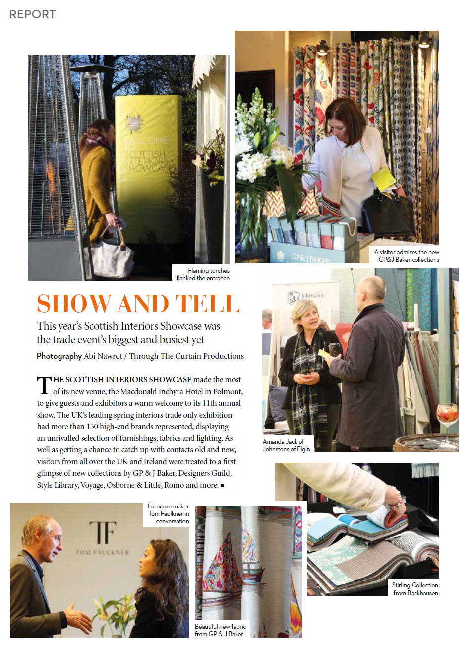 Scottish Interiors Showcase article in Home & Interiors Scotland