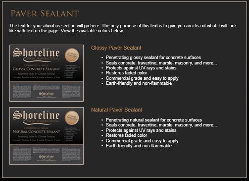 ShoreLine Paver Sealant