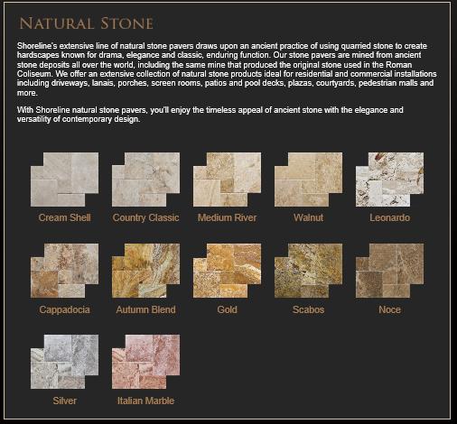 Shoreline Natural Stone Selection