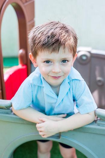 Australian boy at Bangkok's leading international kindergarten enjoying fascilities