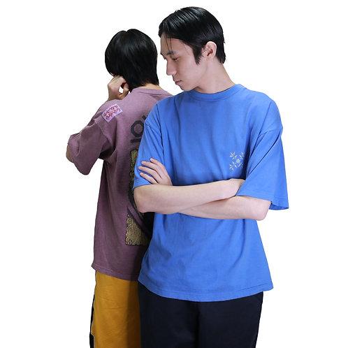 OXBOW Back Print Surf T-Shirt Blue