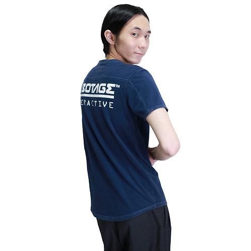 SABOTAGE Round Cut Back Print T-Shirt