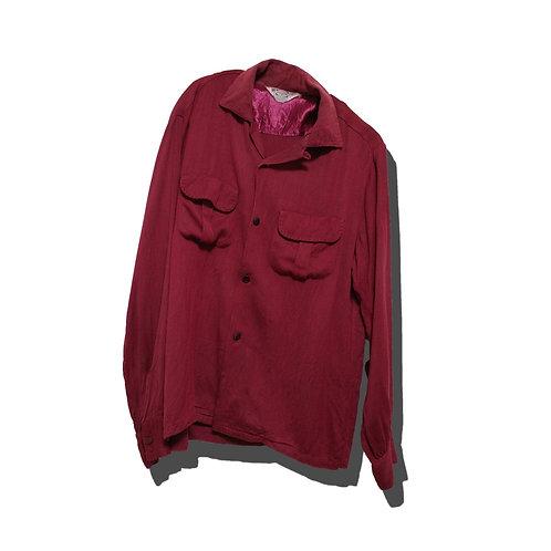 60's Open Collar Rayon Shirt