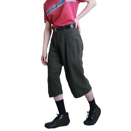 Dirk Schonberger Constructed Linen Shorts