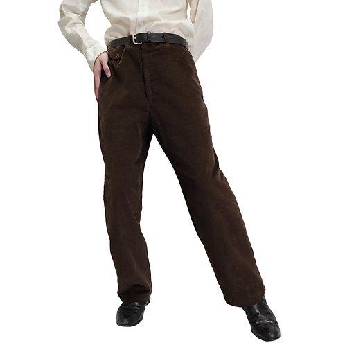 Dark Brown Corduroy Trousers 70's