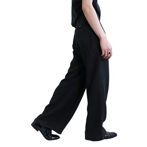 EMPORIO ARMANI Asymmetry Linen Pants