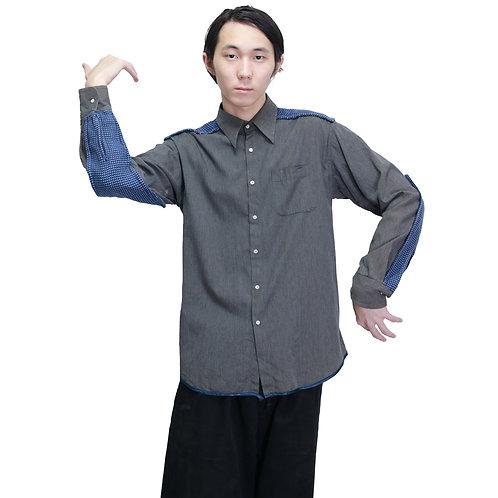 Jose Levy Geometric Patch Shirt
