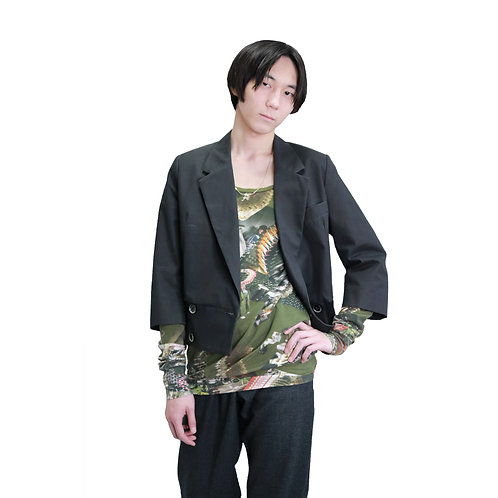 BLESS N°28 Designed Rib Short Double Jacket