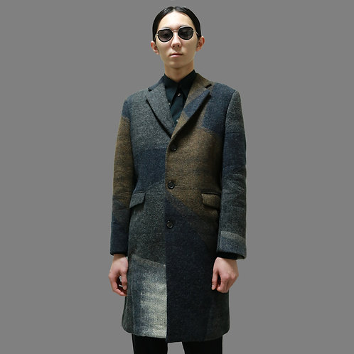 JIL SANDER by RAF SIMONS 2009AW Earth-Color Panel Breasted Coat