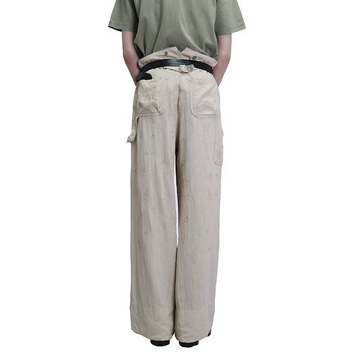 Back Embroidery Design Painter Pants