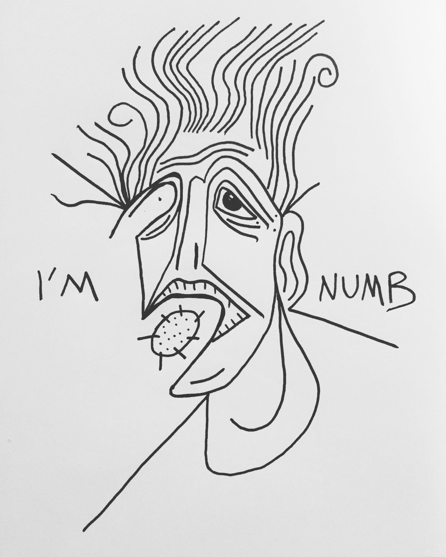 I'm numb