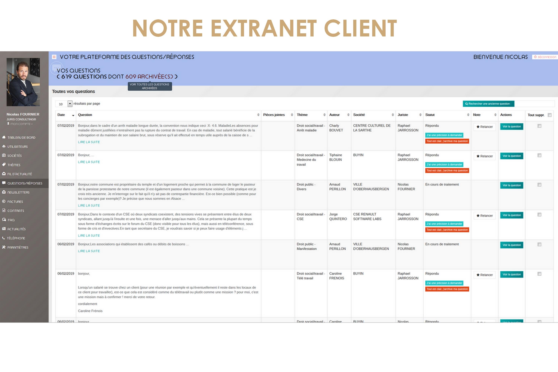 Notre extranet client