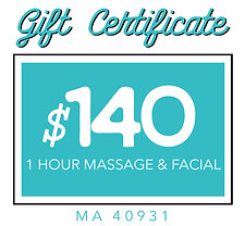 Massage and Facial Gift Certificate