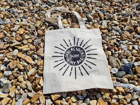 """Tote Bag -  """"Independent is my bag"""" Black Rose Creative edition"""